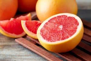 Grapefruit aufgeschnitten