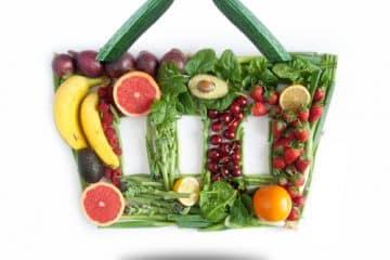 Lebensmittel im Einkaufskorb auf Rechnung bestellen