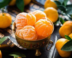 Mandarinen in einer Schüssel