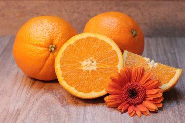Orangen aufgeschnitten