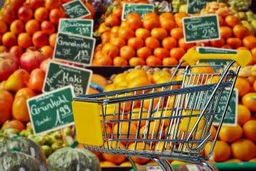 Einkaufskorb aus dem Supermarkt