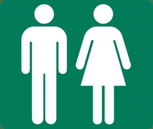 Damen- und Herrentoilette
